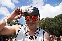 SÃO PAULO, SP - 20.07.2013: FINAL RED BULL KING OF THE ROCK - Fernandinho Beat Box durante a final do Red Bull King of the Rock neste sábado (20) no Parque do Ibirapuera em São Paulo, hoje daqui sai o representante do Brasil para a etapa final mundial de basquete nos EUA na Ilha de Alcatraz.. (Foto: Marcelo Brammer/Brazil Photo Press)