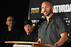 Seanie Monaghan, boxer and Long Island native, speaks during a news conference at NYCB Live's Nassau Coliseum on Tuesday, June 6, 2017. He will face Marcus Browne of Staten Island on July 15 when professional boxing is scheduled to return to the coliseum for the first time in over 30 years.