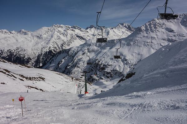 Albona 2 Chairlift, Stuben Ski Area, St Anton, Austria