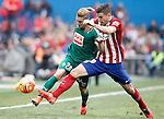 Atletico de Madrid's Lucas Hernandez (r) and Sociedad Deportiva Eibar's Keko Gontan during La Liga match. February 6,2016. (ALTERPHOTOS/Acero)