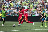 Seattle, Washington - Saturday, May 20, 2017: Seattle Sounders FC vs Real Salt Lake. Final Score: Seattle Sounders FC 1, Real Salt Lake 0.