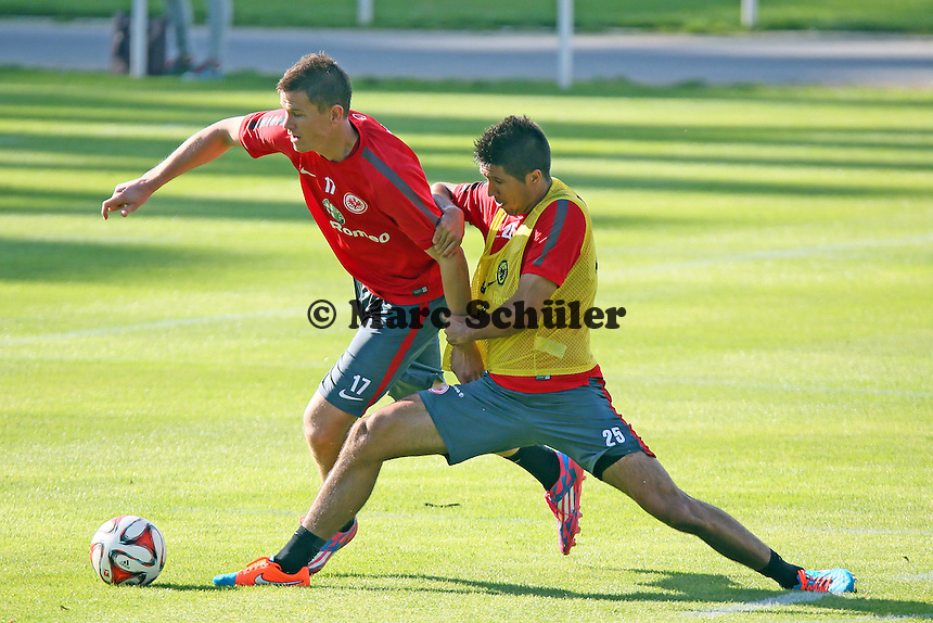 Alexander Madlung gegen Slobodan Medojevic - Eintracht Frankfurt Training, Commerzbank Arena