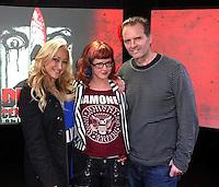 Jennifer Blanc-Biehn, Staci Layne Wilson, Michael Biehn<br /> at Blanc-Biehn Productions on Dread Central Live, The Stream.tv Studios, Los Angeles, CA 03-03-14<br /> David Edwards/DailyCeleb.com 818-249-4998