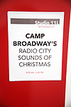 The Camp Broadway Kids Ensemble in rehearsal for a medley of songs about Santa during the pre-show of The Radio City Christmas Spectacular at Open Jar Studios on November 29, 2019 in New York City.