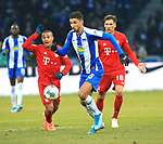 19.01.2020, OLympiastadion, Berlin, GER, DFL, 1.FBL, Hertha BSC VS. Bayern Muenchen, <br /> DFL  regulations prohibit any use of photographs as image sequences and/or quasi-video<br /> im Bild Marko Grujic (Hertha BSC Berlin #15),<br /> Thiago Alcantara (FC Bayern Muenchen #6), Leon Goretzka (FC Bayern Muenchen #18)<br /> <br />       <br /> Foto © nordphoto / Engler