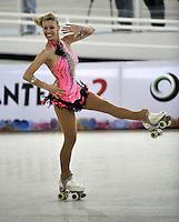 CALI – COLOMBIA – 22 – 09 – 2015: Anna Remondini, deportista de Italia, Solo Danza Mayores  Damas en el LX Campeonato Mundial de Patinaje Artistico, en el Velodromo Alcides Nieto Patiño de la ciudad de Cali. / Anna Remondini, sportwoman from Italy, during the Senior Solo Dance, in the LX World Championships Figure Skating, at the Alcides Nieto Patiño Velodrome in Cali City. Photo: VizzorImage / Luis Ramirez / Staff.