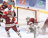 Tim Filangieri, Bryan Ewing, Peter Harrold, Cory Schneider, Brian Boyle - The Boston College Eagles defeated the Boston University Terriers 5-0 on Saturday, March 25, 2006, in the Northeast Regional Final at the DCU Center in Worcester, MA.