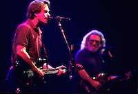 "Bob Weir, left,  and Jerry Garcia of The Grateful Dead perform during a concert in Oakland.   The remaining members of the band will reunite for the final time for the ""Fare Thee Well"" concerts  over July 4th weekend in 2015."