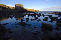 Rocky shore line, Los Abrigos Tenerife, Canary Islands. Spain