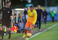 Michael Harriman of Wycombe Wanderers during the Sky Bet League 2 match between AFC Wimbledon and Wycombe Wanderers at the Cherry Red Records Stadium, Kingston, England on 21 November 2015. Photo by Alan  Stanford/PRiME.