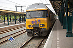 Train at platform, Den Bosch, 's-Hertogenbosch, railway station, North Brabant province, Netherlands