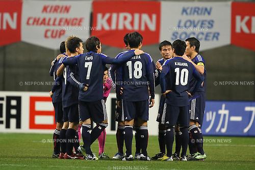 Japan team group (JPN), .FEBRUARY 6, 2013 - Football / Soccer : .KIRIN Challenge Cup 2013 Match between Japan 3-0 Latvia .at Home's Stadium Kobe in Hyogo, Japan. .(Photo by Akihiro Sugimoto/AFLO SPORT)