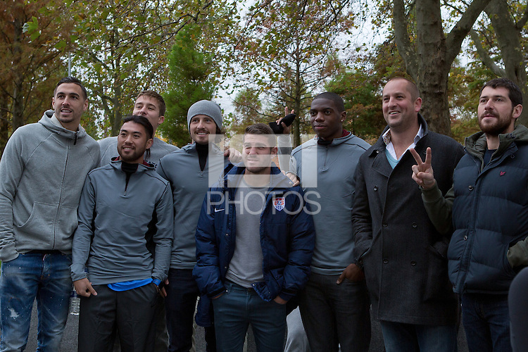 London, UK. - Thursday, November 13, 2014: U.S. Men's National Team Training at Fulham's Craven Cottage.