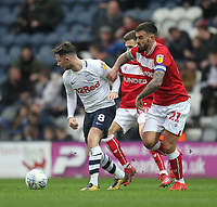 Preston North End's Alan Browne battles with  Bristol City's Marlon Pack<br /> <br /> Photographer Mick Walker/CameraSport<br /> <br /> The EFL Sky Bet Championship - Preston North End v Bristol City - Saturday 2nd March 2019 - Deepdale Stadium - Preston<br /> <br /> World Copyright © 2019 CameraSport. All rights reserved. 43 Linden Ave. Countesthorpe. Leicester. England. LE8 5PG - Tel: +44 (0) 116 277 4147 - admin@camerasport.com - www.camerasport.com