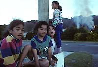 Maori children in New Zealand, 1995