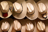 Palm hats in the market,  San Miguel de Allende, Mexico. San Miguel de Allende is a UNESCO World Heritage Site....