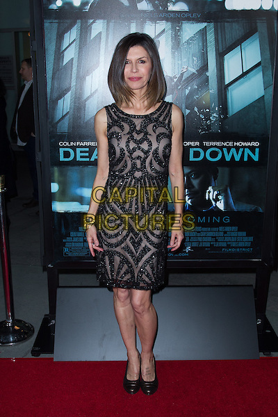 Finola Hughes.The premiere of FilmDistricts's 'Dead Man Down' at ArcLight Hollywood, Hollywood, California, USA..February 26th, 2013.full length dress black sheer sleeveless beads beaded .CAP/ADM/JS.©John Salangsang/AdMedia/Capital Pictures.
