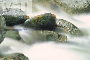Stream water worn rocks Sierra Nevada