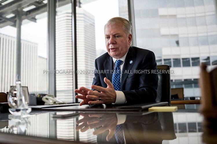 3/13/2014&mdash;Seattle, WA, USA<br /> <br /> Seattle Mayor Ed Murray speaking in his office at City Hall. Seattle is debating whether or not to raise the city&rsquo;s minimum wage to $15. <br /> <br /> <br /> Photograph by Stuart Isett<br /> &copy;2014 Stuart Isett. All rights reserved.