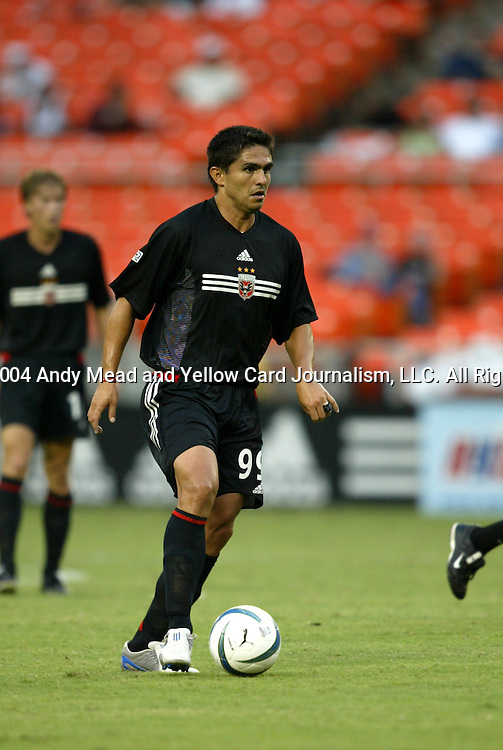 14 July 2004: Jaime Moreno. DC United defeated Nottingham Forest of England First Division 4-3 on penalties after the teams played to a 1-1 draw at RFK Stadium in Washington, DC during an international exhibition match..