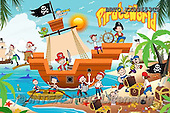 Alfredo, CUTE ANIMALS, LUSTIGE TIERE, ANIMALITOS DIVERTIDOS, puzzle,pirates,ship, paintings+++++,BRTOXX03653CP,#AC#