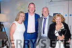 Joan & Mick Galway with Charlie & Colette Nelligan at the Mick O'Dwyer Gala Dinner in the Sea Lodge Waterville on Saturday night.