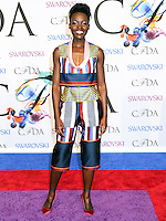 NEW YORK CITY, NY, USA - JUNE 02: Lupita Nyong'o arrives at the 2014 CFDA Fashion Awards held at Alice Tully Hall, Lincoln Center on June 2, 2014 in New York City, New York, United States. (Photo by Celebrity Monitor)