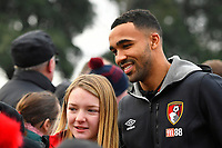 Callum Wilson of AFC Bournemouth poses for a picture with a young fan during AFC Bournemouth vs Wigan Athletic, Emirates FA Cup Football at the Vitality Stadium on 6th January 2018