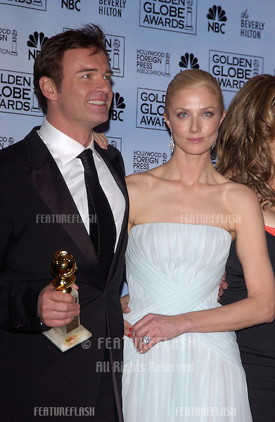 Jan 16, 2005; Los Angeles, CA: JOELY RICHARDSON & JULIAN McMAHON at the 62nd Annual Golden Globe Awards at the beverly Hilton Hotel..