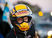 Jul 29, 2016; Sonoma, CA, USA; NHRA funny car driver Del Worsham during qualifying for the Sonoma Nationals at Sonoma Raceway. Mandatory Credit: Mark J. Rebilas-USA TODAY Sports