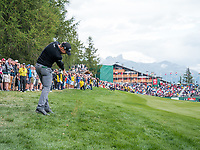 Lorenzo Gagli (ITA) in action during playoff of the final round at the Omega European Masters, Golf Club Crans-sur-Sierre, Crans-Montana, Valais, Switzerland. 01/09/19.<br /> Picture Stefano DiMaria / Golffile.ie<br /> <br /> All photo usage must carry mandatory copyright credit (© Golffile | Stefano DiMaria)