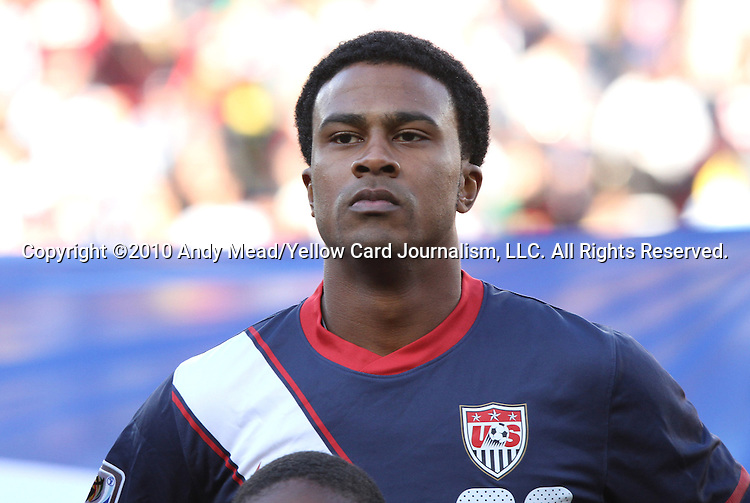 18 JUN 2010: Robbie Findley (USA). The Slovenia National Team played the United States National Team to a 2-2 at Ellis Park Stadium in Johannesburg, South Africa in a 2010 FIFA World Cup Group C match.