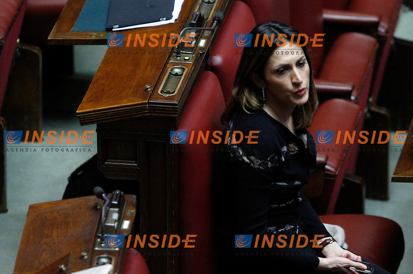 L onorevole del PdL Elvira Savino..Voto di Fiducia alla Camera dei Deputati sulla nuova Manovra Economica..Roma 16 Dicembre  2011..Photo Serena Cremaschi Insidefoto..............................