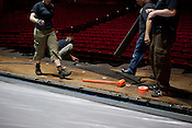 Wicked load-in at the Durham Performing Arts Center, Tuesday, May 1, 2012.
