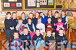 &nbsp;SCHOOL: First day at school for pupils of O'Brennan National School, Ballymacelligott, on Monday. Front l-r: Darragh Moriarty, Brian Cassidy, Mark Sweeney, Adam Waid and Oisin McCarthy. Middle l-r: Darragh Blennerhassett, Ayesha O'Connell, Lisa Curran, Caroline Hurley and Marie Godley. Back l-r: Cuithin Hurley, Darragh Moore, Jade Riordan, Jay Tydings, Cora Savage, Melissa Sweeney, Kate Connor-O'Dowd, Eoin McCarthy and Ellie Sugrue.<br />