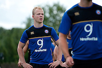 Will Homer of Bath Rugby looks on. Bath Rugby training session on July 21, 2015 at Farleigh House in Bath, England. Photo by: Patrick Khachfe / Onside Images