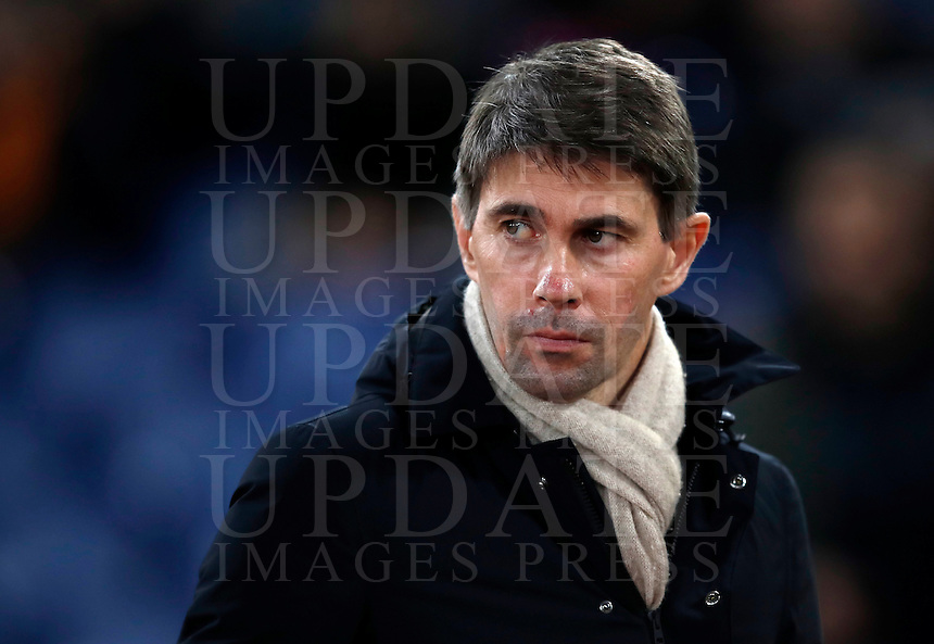 Calcio, Serie A: Roma, Stadio Olimpico, 7 febbraio 2017.<br /> AS Roma sporting director Frederic Massara looks on before the match of the Italian Serie A football match between AS Roma and Fiorentina at Roma's Olympic Stadium, on February 7, 2017.<br /> UPDATE IMAGES PRESS/Isabella Bonotto