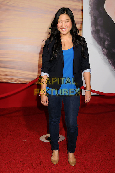 "JENNA USHKOWITZ.""Tangled"" Los Angeles Premiere held at the El Capitan Theatre, Hollywood, California, USA..November 14th, 2010.full length top jacket jeans denim black blue.CAP/ADM/BP.©Byron Purvis/AdMedia/Capital Pictures."