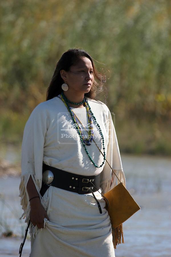 A Native American Indian women in South Dakota