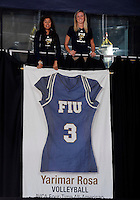 Florida International University retired women's volleyball player Yarimar  Rosa's number after the game against Western Kentucky University.  Western Kentucky won the match 3-0 on September 30, 2011 at Miami, Florida. .