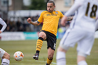 Dean Morgan of Newport County during the Sky Bet League 2 match between Newport County and Notts County at Rodney Parade, Newport, Wales on 30 April 2016. Photo by Mark  Hawkins / PRiME Media Images.