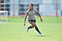 Houston, TX - Friday Oct. 07, 2016: Crystal Dunn during training prior to the National Women's Soccer League (NWSL) Championship match between the Washington Spirit and the Western New York Flash at Houston Sports Park.
