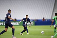 24th July 2020, Stade de France, Paris, France; French football Cup Final, Paris Saint Germain versus  St Ertienne;  10 NEYMAR JR (PSG) gets his shot goalbound