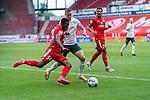 Ridle Baku (FSV Mainz 05 #34), Niklas Moisander (Werder Bremen #18 Kapitaen)<br /> <br /> <br /> Sport: nphgm001: Fussball: 1. Bundesliga: Saison 19/20: 33. Spieltag: 1. FSV Mainz 05 vs SV Werder Bremen 20.06.2020<br /> <br /> Foto: gumzmedia/nordphoto/POOL <br /> <br /> DFL regulations prohibit any use of photographs as image sequences and/or quasi-video.<br /> EDITORIAL USE ONLY<br /> National and international News-Agencies OUT.