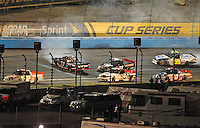 Nov. 7, 2008; Avondale, AZ, USA; Nascar Craftsman Truck Series driver Ron Hornaday Jr (33) crashes on the first lap during the Lucas Oil 150 at Phoenix International Raceway. Mandatory Credit: Mark J. Rebilas-
