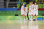 Japan Women's team group (JPN), AUGUST 8, 2016 - Basketball : <br /> Women's Preliminary Round <br /> between Japan 82-66 Brazil <br /> at Youth Arena <br /> during the Rio 2016 Olympic Games in Rio de Janeiro, Brazil. <br /> (Photo by Yusuke Nakanishi/AFLO SPORT)