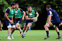 Jeff Williams of Bath Rugby in possession. Bath Rugby pre-season training session on August 9, 2016 at Farleigh House in Bath, England. Photo by: Patrick Khachfe / Onside Images