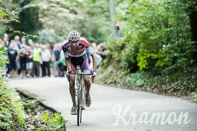 eventual race winner Mathieu van der Poel (NED/Beobank-Corendon) charging ahead<br /> <br /> Dwars door het Hageland (1.1)<br /> 1 Day Race: Aarschot &gt; Diest (194km)