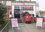 Post Office shop in large village of Pewsey, Wiltshire, England, UK