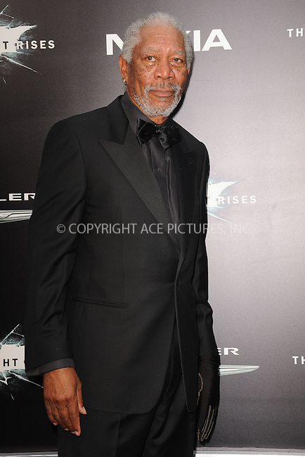 WWW.ACEPIXS.COM . . . . . .July 16, 2012...New York City....Morgan Freeman attends 'The Dark Knight Rises' New York Premiere at AMC Lincoln Square Theater on July 16, 2012 in New York City ....Please byline: KRISTIN CALLAHAN - ACEPIXS.COM.. . . . . . ..Ace Pictures, Inc: ..tel: (212) 243 8787 or (646) 769 0430..e-mail: info@acepixs.com..web: http://www.acepixs.com .